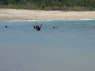 Fishing at Areguling Beach
