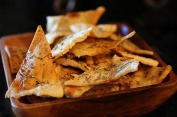 Rosemary Thyme Pita Chips