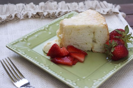 Lime Angel Food Cake with Strawberries and Lime Mascarpone ...
