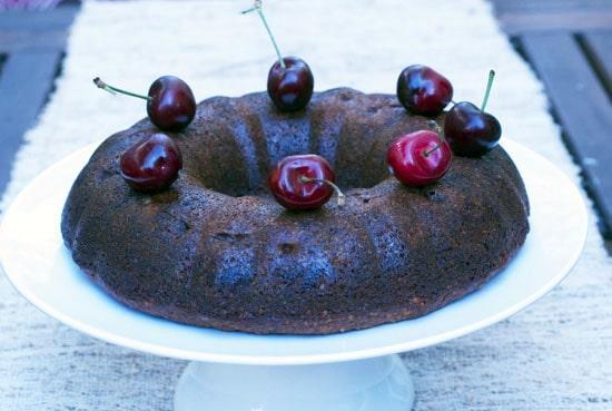 Gluten Free Almond Cherry Upside Down Cake