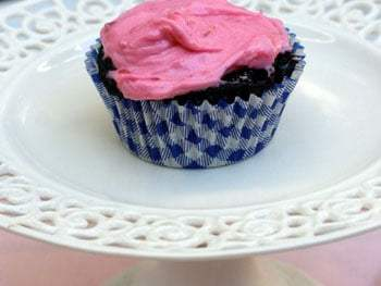 Dark Chocolate Cupcakes with Raspberry Buttercream and a Winner!