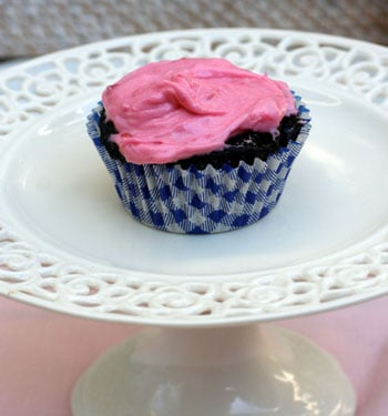 Dark Chocolate Cupcakes with Raspberry Buttercream and a ...