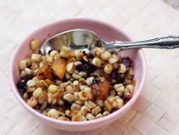 Carmelized Corn, Mango and Bacon