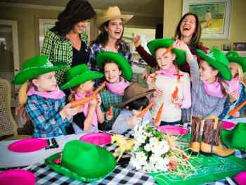 Cowgirl Party & Chocolate Cake Push Up Cakes