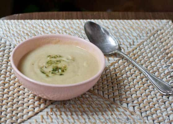 roasted garlic and potato soup