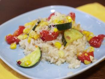 Tomato, Corn and Zucchini Risotto