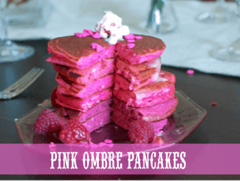 Ombre Pancakes for a Princess Party