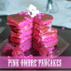 pink ombre pancakes
