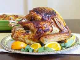 ancho chile turkey with maple bourbon butter