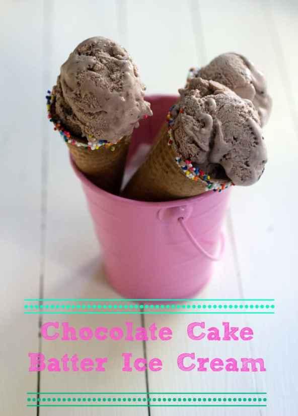 Beauty Chocolate Cake Batter