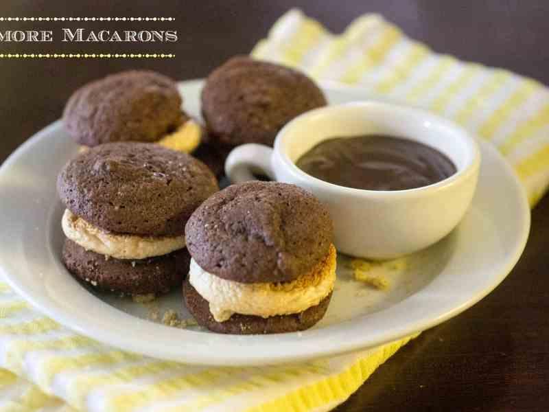 chocolate smore macaron
