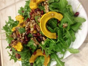 Roasted Delicata Squash and Pomegranate Salad