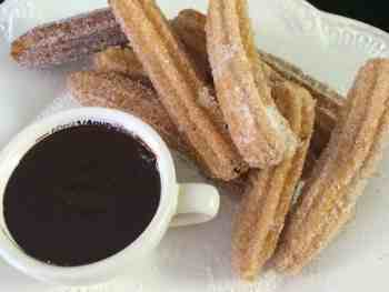Churros with Mexican Hot Chocolate