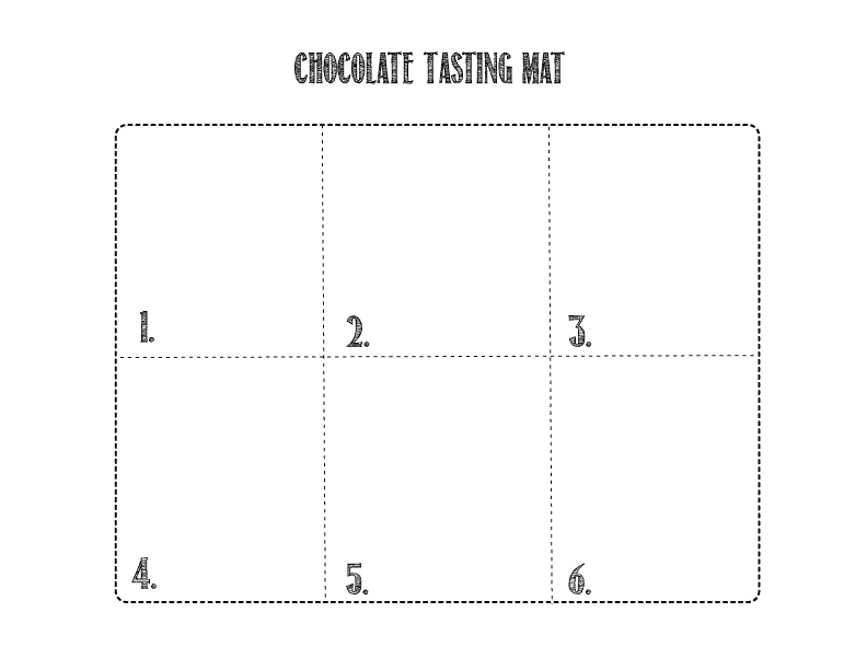 Chocolate Tasting Mat