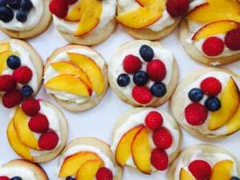 Mini Sugar Cookie Fruit Tarts