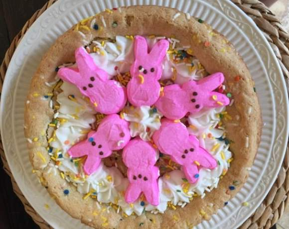 Peeps Funfetti Cookie Pie For Spring