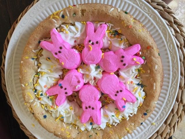 Peeps Funfetti Cookie Pie