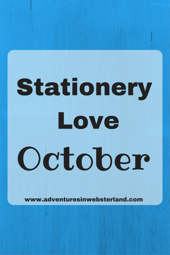 Stationery Love October