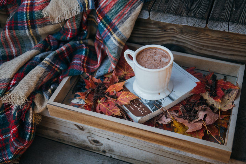 Autumn leaves hot chocolate self care