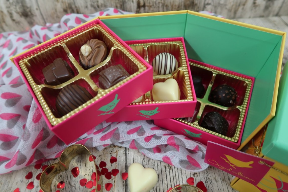 chocolates in a colorful box