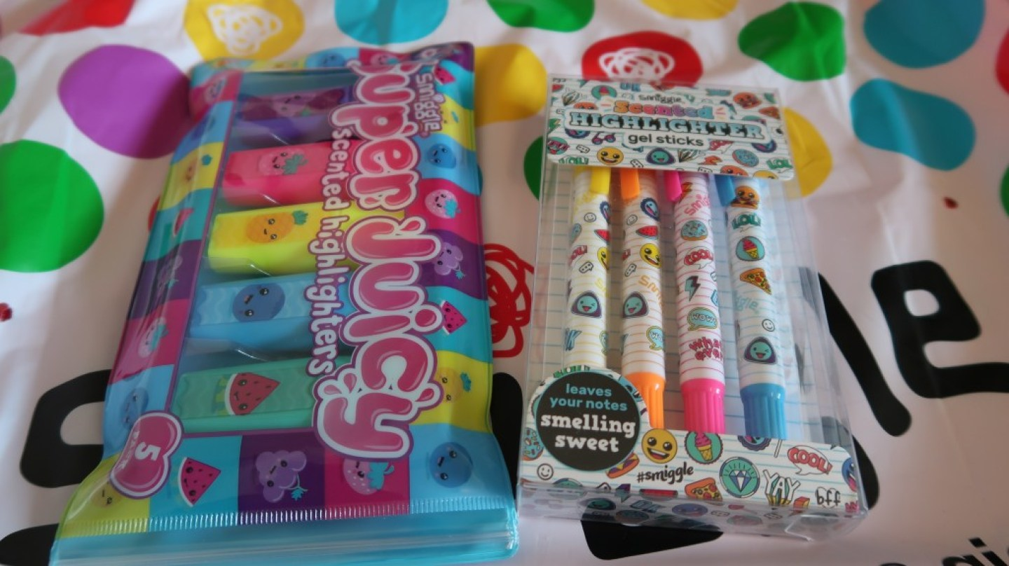 super juicy and gel highlighter packs from smiggle