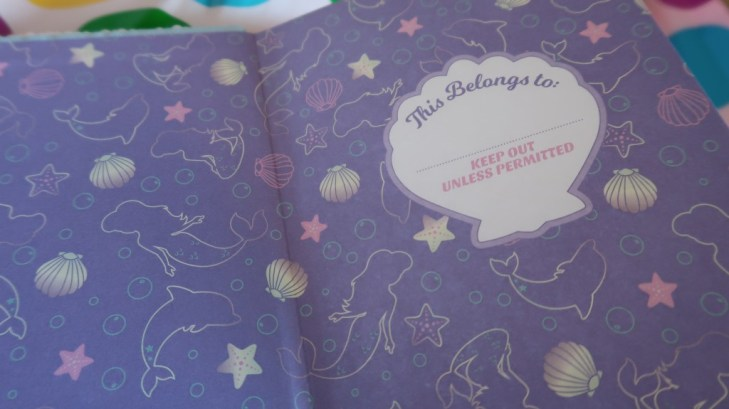 inside cover of diary from smiggle