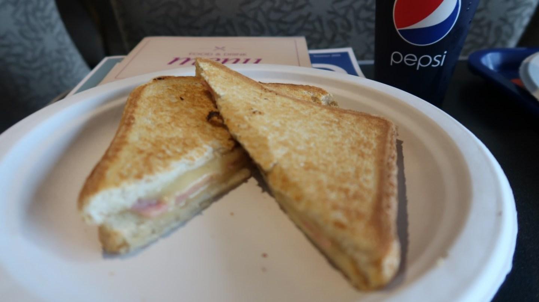 Cheese and ham toastie The Condor Liberation condor ferries