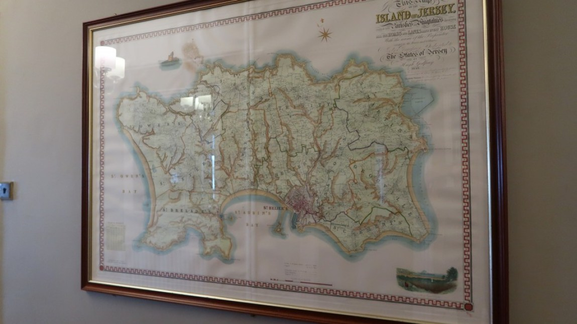 Map of the island Ommaroo Hotel In Jersey
