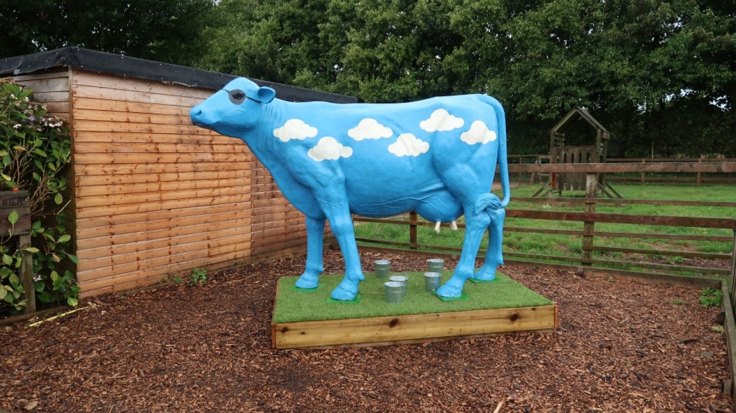 blue sky cow aMaizin! adventure park jersey