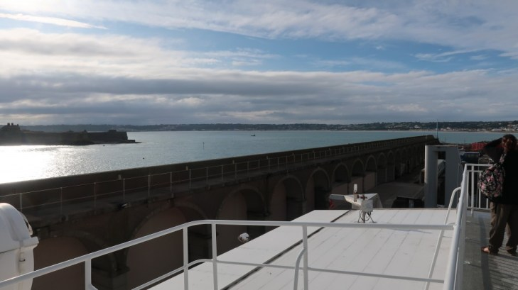 port of guernsey from observation deck The Condor Liberation condor ferries