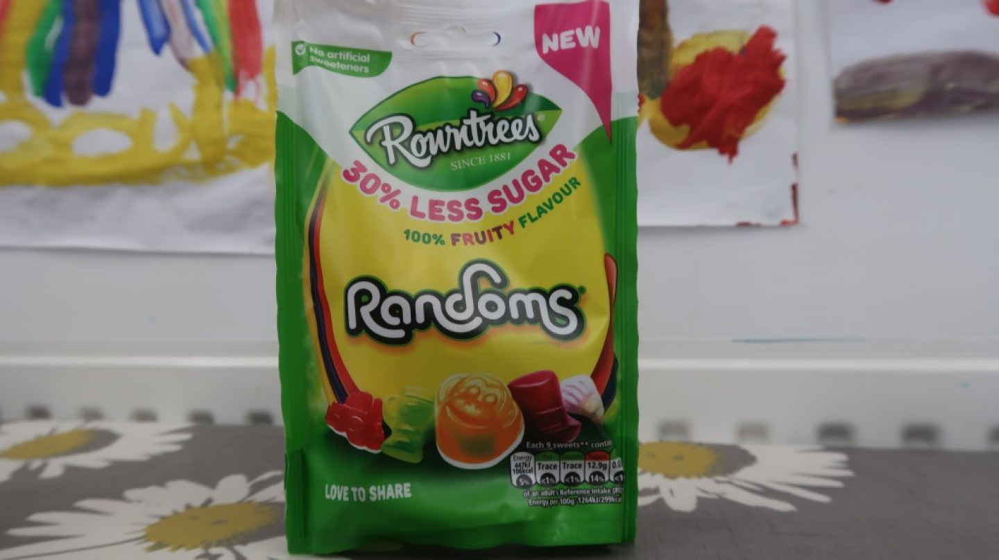 Rowntrees Randoms 30% less sugar