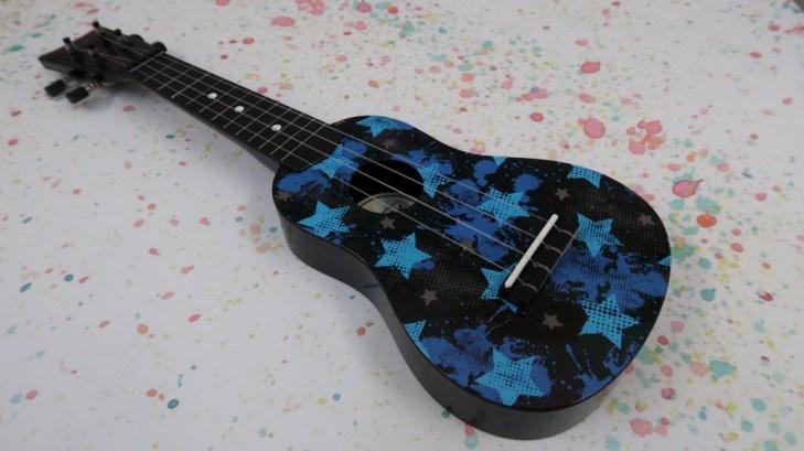 First Act kids ukulele black with blue stars