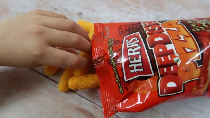 taffy mail subscription box herr's deep dish pizza snack