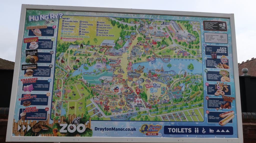 Drayton Manor park map
