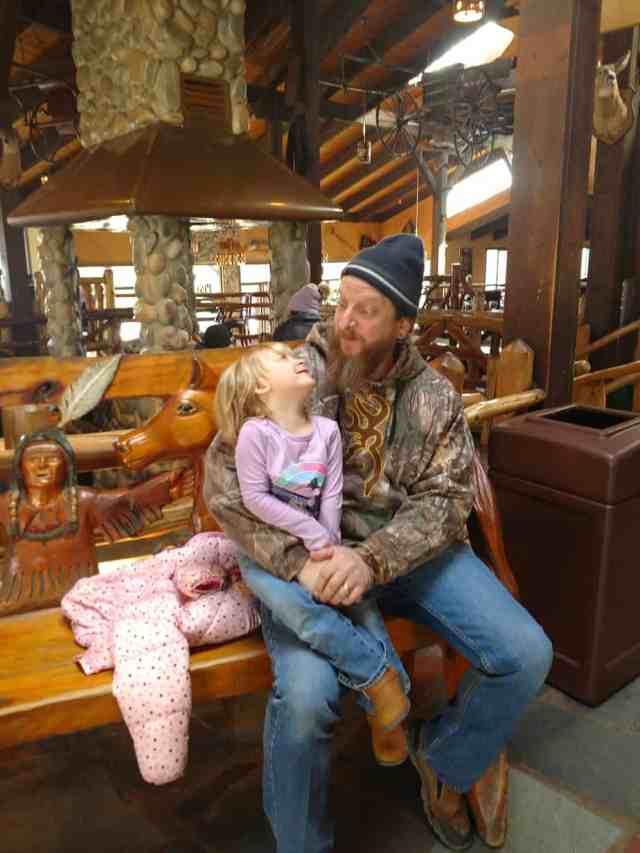 dad and daughter at Pine Ridge Dude Ranch