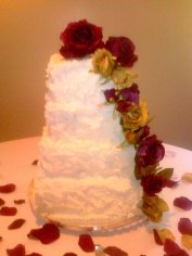 Rustic 4 Tier Wedding Cake