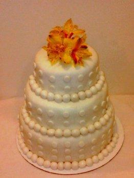 Fondant Dot Wedding Cake