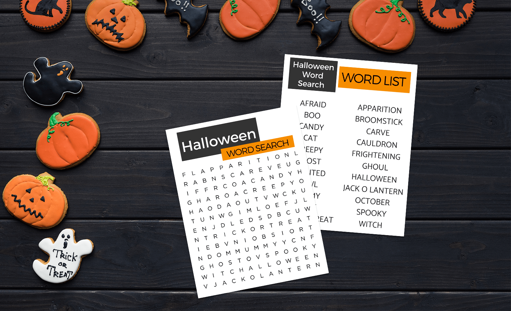 Halloween Word Search Printable For Seniors