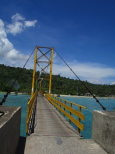 Suspension bridge between the two islands.