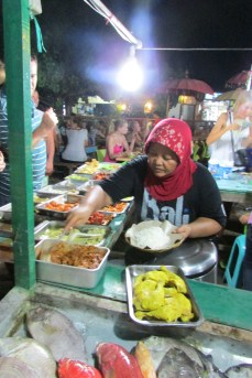Overwhelming variety of food to choose from at the Gili T Night Market.