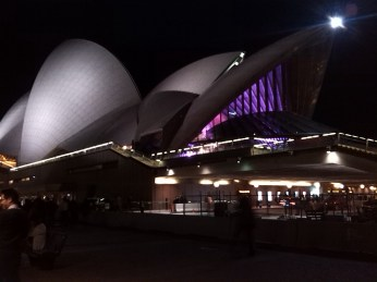 Arriving at the Opera House at night is just as impressive as during the day