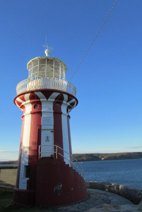 The lighthouse past Camp Bay over looking Sydney Harbour and the Sydney Harbour National Park