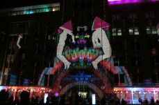 Facade of the Museum of Contemporary Art during VIVID Sydney