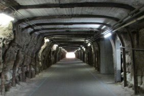 There are several tunnels that run through the base of the island which would have been built by convicts.