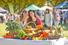 Caroline and I had the chance to be part of a Mildura Tourism Photo shoot at the market. Photo by Darren Seiler