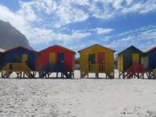 Beach Huts at Muizenburgto Beach