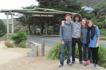 The start of the Great Ocean Road