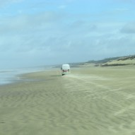Driving down the 90mile beach