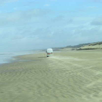 Driving down the 90mile beach