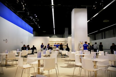 The Samsung dining area where I ate many ham sandwiches each day